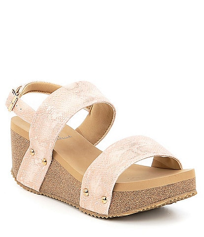 Volatile Summer Love Snake Banded Sling Wedge Sandals