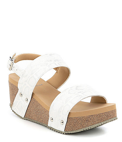 0b4c2a737b8da0 Volatile Summer Love Banded Sling Wedge Sandals