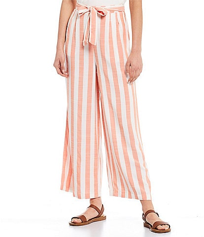Volcom Coco Stripe Belted High Rise Beach Pants