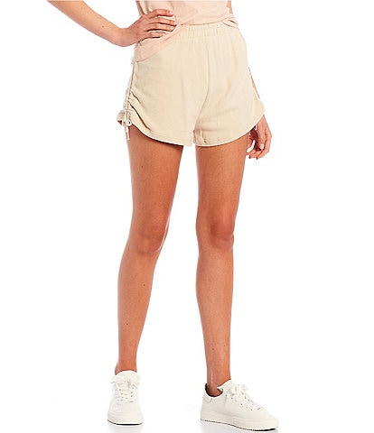 Volcom Coordinating Lil Fleece Side Cinched Shorts