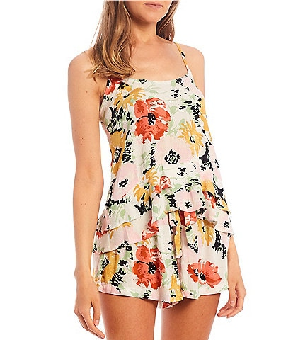Volcom Coordinating Thats My Type Floral Cami Top