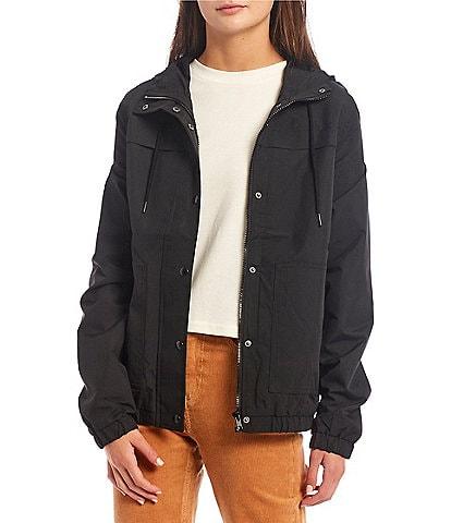 Volcom Enemy Stone Long Sleeve Hooded Windbreaker Jacket