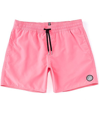 Volcom Lido 16#double; Outseam Solid Trunks