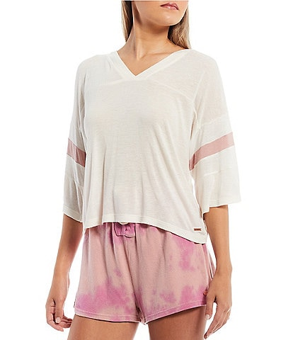 Volcom Lil Cropped Football-Style Line-Blend Cropped Tee