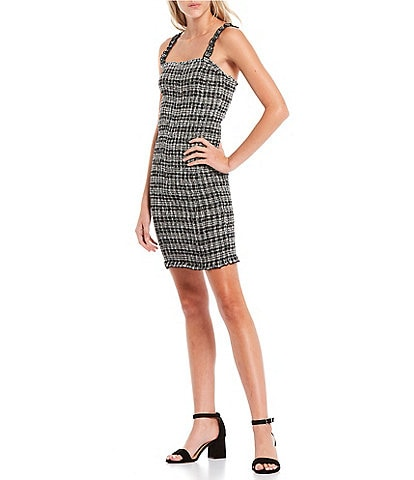 Volcom Seeriously Plaid Bodycon Dress