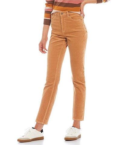 Volcom Stoned Straight-Fit High-Rise Wale Corduroy Five-Pocket Jeans
