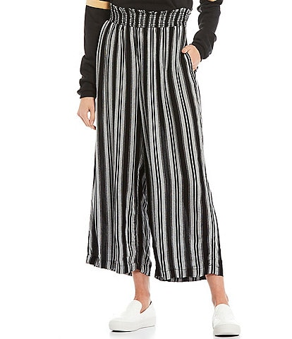 Volcom Sunrise Show Stripe Cropped Wide Leg Pull-On Pants