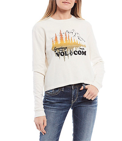 Volcom Thermality Greetings From Volcom Long Sleeve Graphic Tee