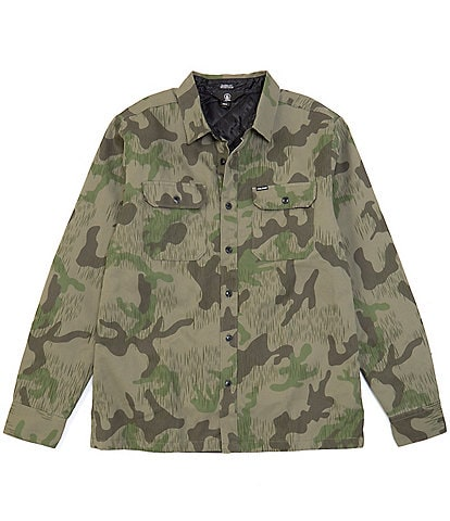 Volcom Trademan Long-Sleeve Camouflage Woven Twill Shirt Jacket
