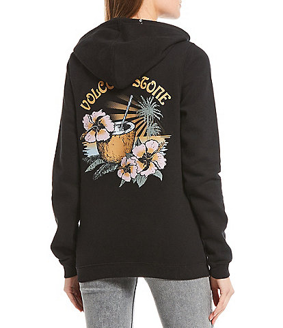 Volcom Volcation Coconut Graphic Fleece Pullover Hoodie