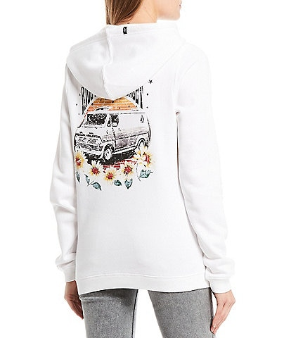 Volcom Volcation Sunflower Graphic Fleece Pullover Hoodie