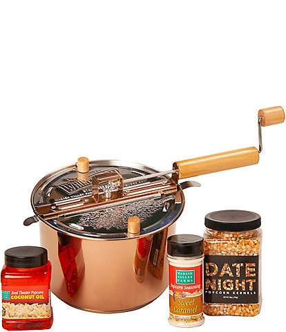 Wabash Valley Farms Copper Plated Whirley-Pop Popcorn with Date Night Set
