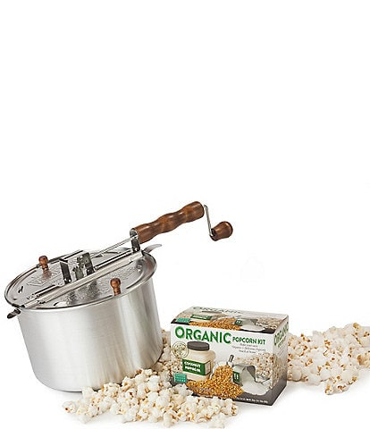 Wabash Valley Farms Original Whirley-Pop with DIY Organic Popcorn Snack Set