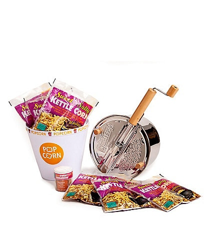 Wabash Valley Farms Stainless Steel Whirley-Pop Popcorn and Kettle Corn Popping Set