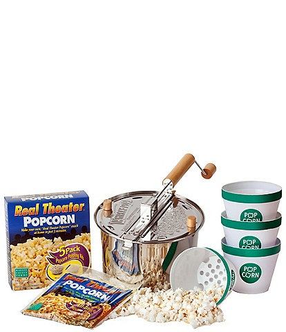 Wabash Valley Farms Stainless Steel Whirley-Pop Popcorn and Starter Set