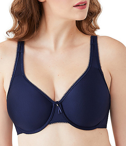 Wacoal Basic Beauty Full-Busted Seamless Underwire Toed-In Back Contour Bra