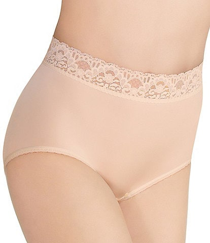 Wacoal Bodysuede Lace Waist Brief Panty