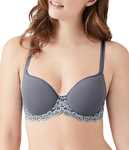 Wacoal Embrace Lace Scalloped Full-Busted Contour Underwire Square Back T-Shirt Bra
