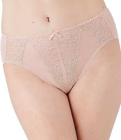 Wacoal Retro Chic Hi-Cut Lace Brief Panty