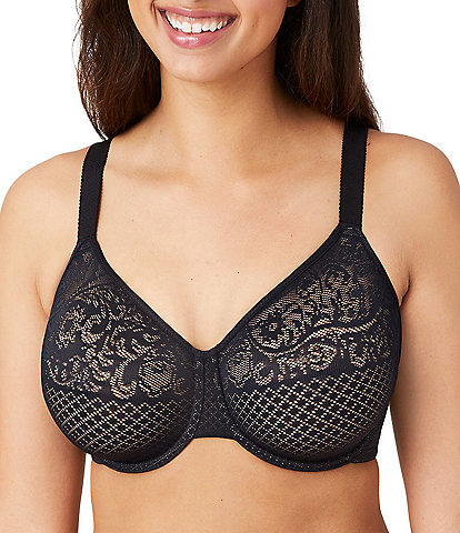 Wacoal Visual Effects Geometric Lace Minimizer Bra