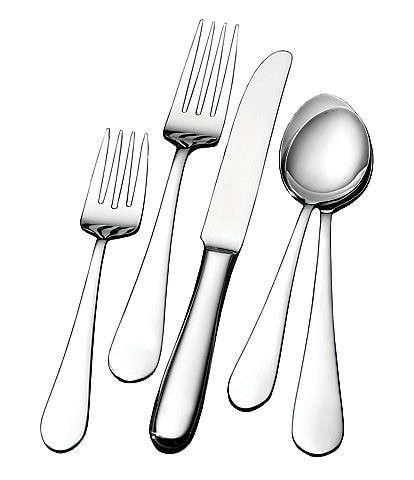 Wallace Silversmiths Classic 45-Piece Stainless Steel Flatware Set