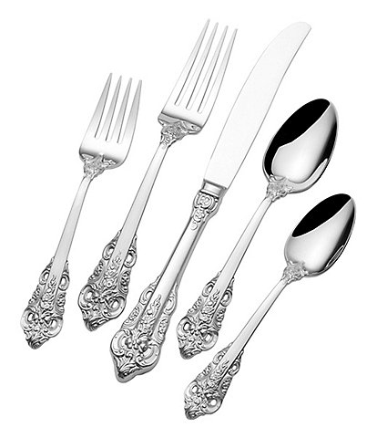 Wallace Silversmiths Royal Baroque 20-Piece Stainless Steel Flatware Set