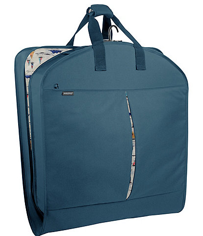 Wally Bags 40-inch Garment Bag with Accessory Pockets and Sailboat Print Pattern