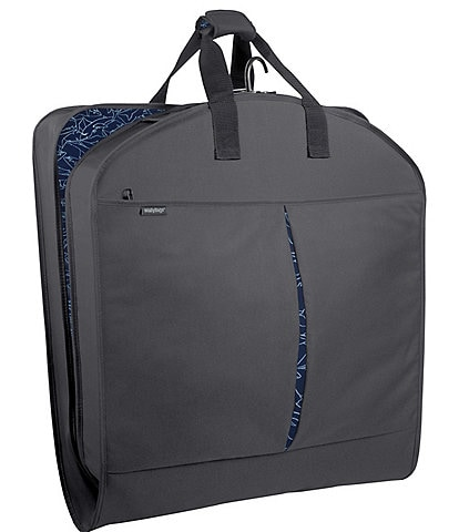 Wally Bags 40-inch Garment Bag with Accessory Pockets and Shark Print Pattern