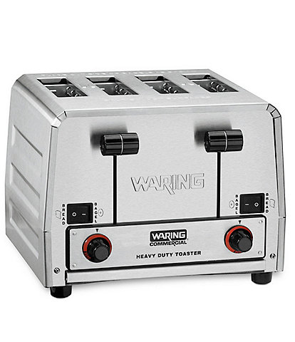 Waring Commercial Heavy-Duty 4-Slot Switchable Bread & Bagel Commercial Toaster