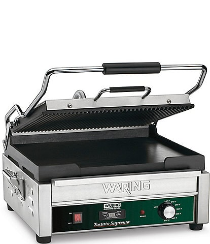 Waring Commercial Large Italian-Style Panini Grill with Timer - 120 Volts