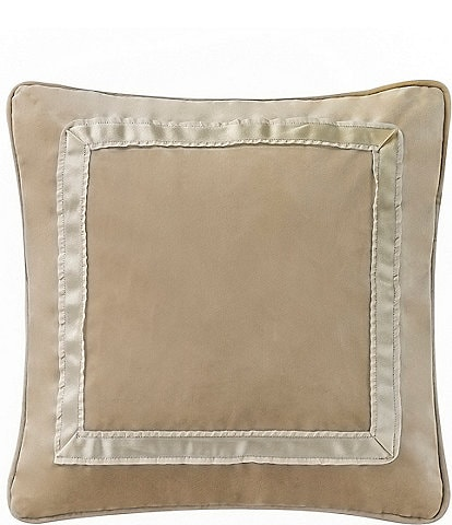 Waterford Ansonia Ribbon-Framed Velvet Square Pillow