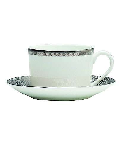 Waterford Aras Grey Teacup & Saucer Set