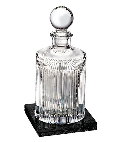 Waterford Aras Round Decanter Round with Marble Coaster