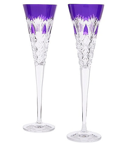 Waterford Crystal 2020 Times Square Flute Pair Ultra Violet