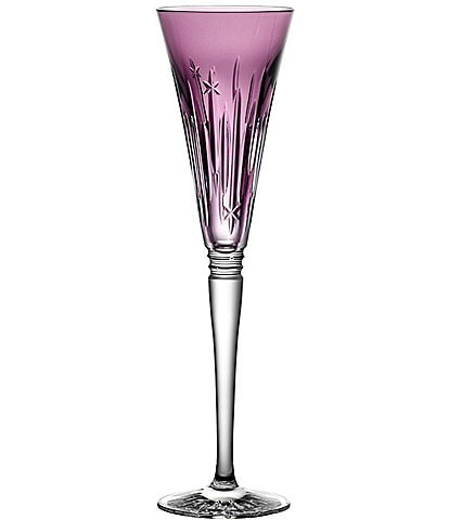 Waterford Crystal 2021 Winter Wonders Midnight Frost Flute, Lilac