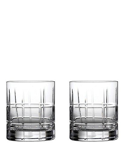 Waterford Crystal Cluin Double Old-Fashion Glasses, Set of 2