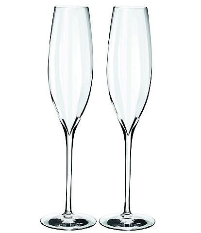 Waterford Crystal Elegance Optic Champagne Flutes, Set of 2