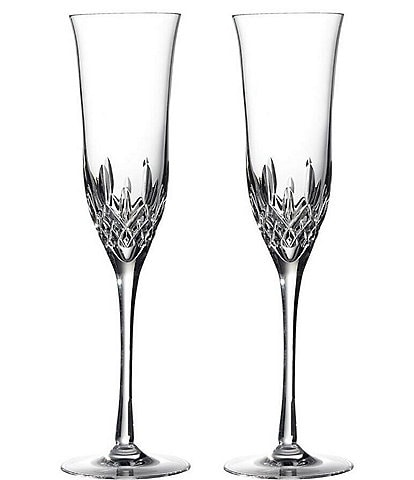 Waterford Crystal Lismore Essence Champagne Flute Pair