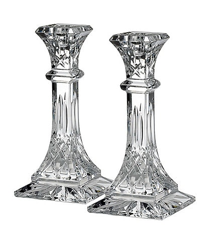 Waterford Crystal Lismore Candlestick Pair, 8#double;