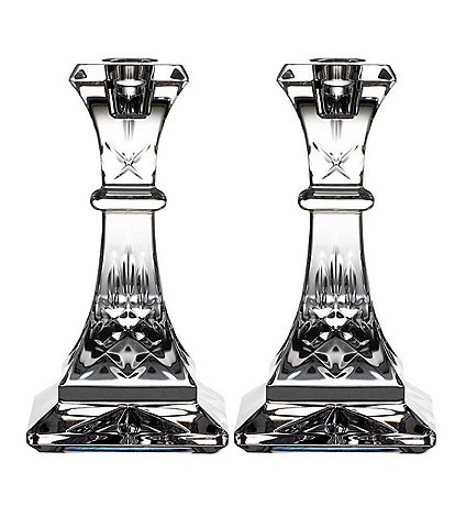 Waterford Crystal Lismore Candlestick, Set of 2