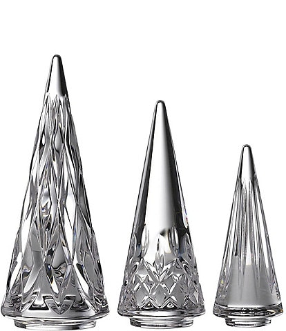 Waterford Crystal Lismore Standing Christmas Trees, Set of 3