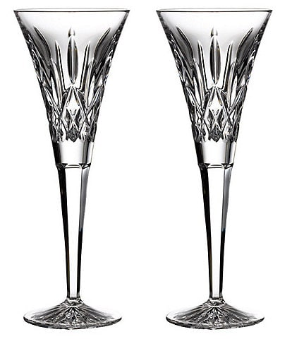 Waterford Crystal Lismore Toasting Flutes, Set of 2