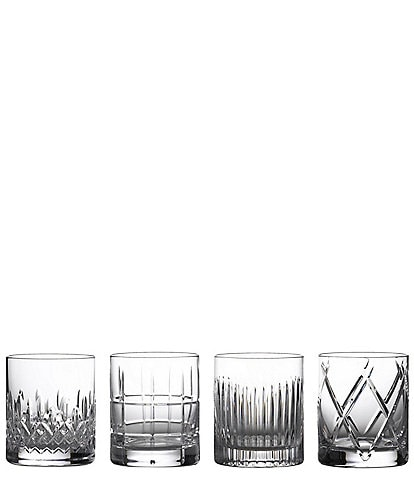 Waterford Crystal Short Stories Double Old-Fashion Mixed Glasses, Set of 4
