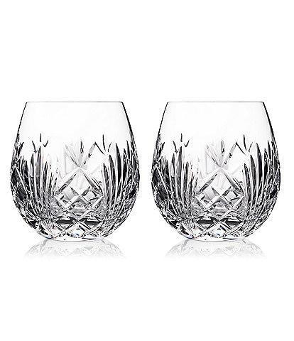 Waterford Crystal Tidmore Red Wine Stemless Glass Pair
