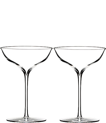 Waterford Elegance Crystal Champagne Belle Coupe Pair