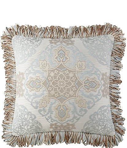 Waterford Jonet Fringed Medallion Square Pillow