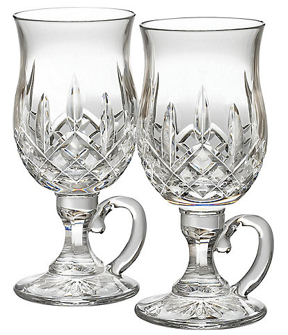 Waterford Lismore Crystal Irish Coffee Pair