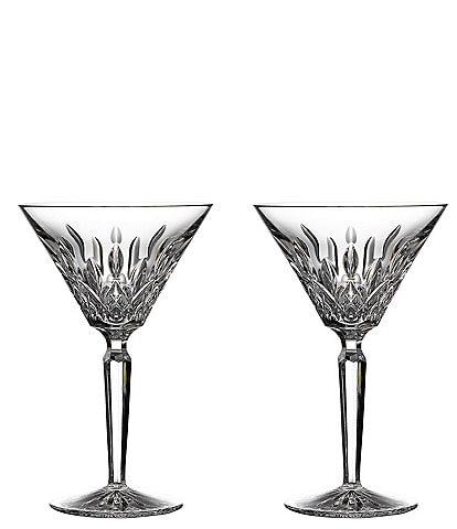 Waterford Lismore Crystal Martini, Set of 2