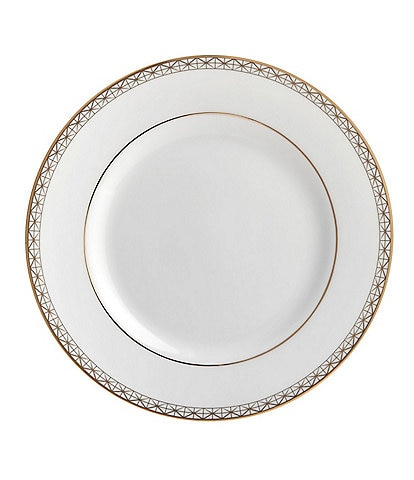 Waterford Lismore Diamond Gold Bread and Butter Plate