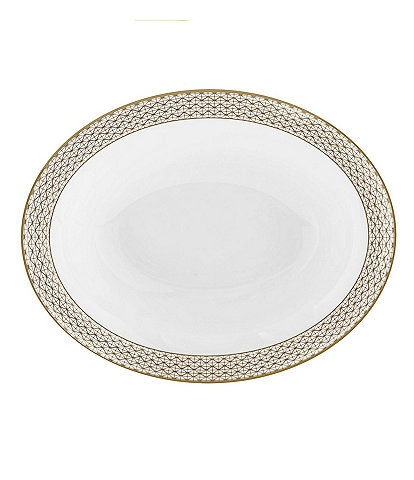 Waterford Lismore Diamond Gold Open Vegetable Bowl